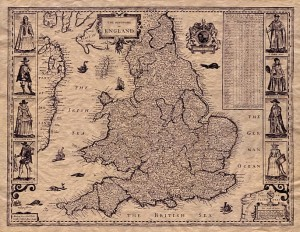 Old Map of England